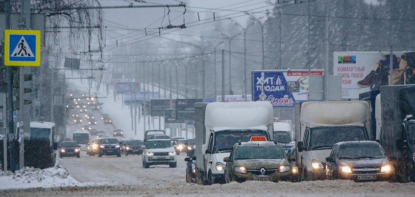 Водителей Ижевска предупредили о метелях и заносах на дорогах