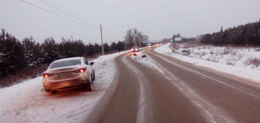 Два водителя пострадали в ДТП под Ижевском