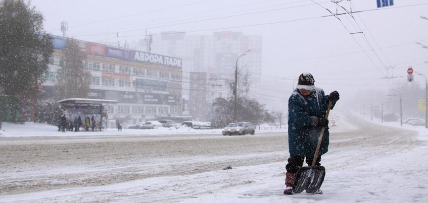 Снег и до -9°С ожидают в Ижевске 9 января