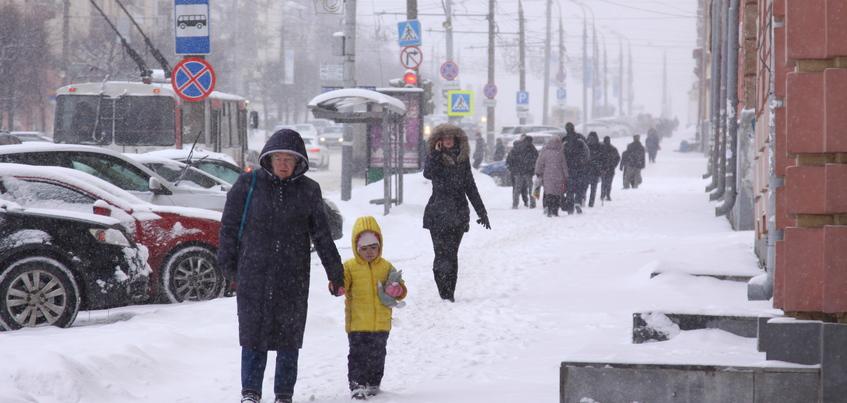 Кратковременный снег ожидается в Ижевске 17 января