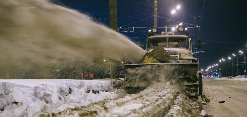 С каких улиц Ижевска вывезут снег с 4 по 9 февраля?
