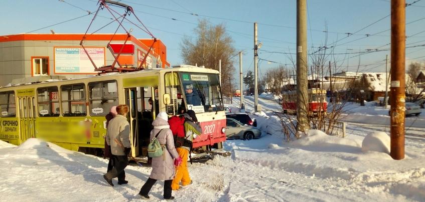 Движение трамваев в сторону «Буммаша» прервано в Ижевске
