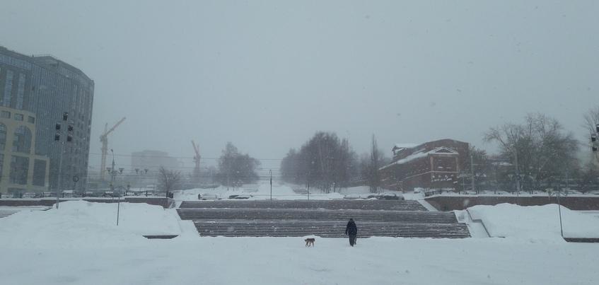 Сильный снег и метель в Ижевске сохранятся ближайшие сутки