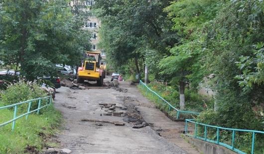 В Ижевске идет ремонт дворов
