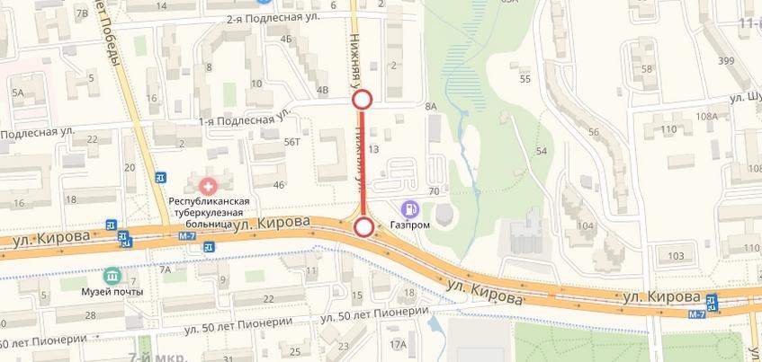 Движение по улице Нижней закроют в Ижевске