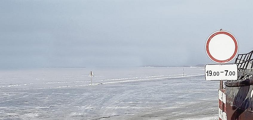 Грузоподъемность ледовой переправы через Каму снизили в Удмуртии