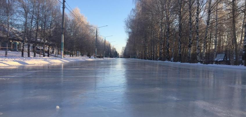 Самый длинный каток Ижевска закроют с 18 марта