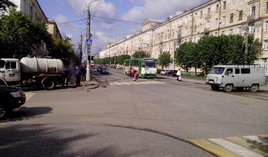 В Ижевске на перекрестке улиц Ленина и Коммунаров не работает светофор