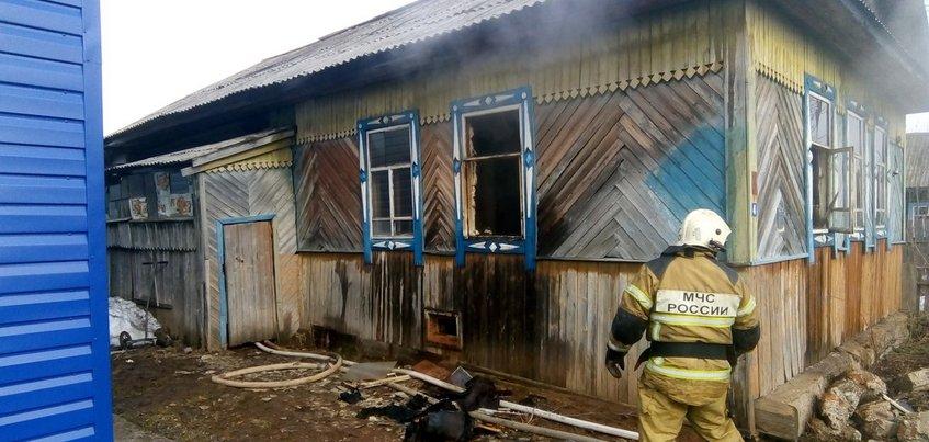 Пенсионер погиб при пожаре в Удмуртии