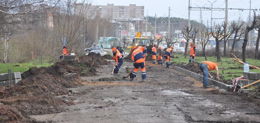 Еще 11 тротуаров Ижевска попали в список ремонта 2019 года