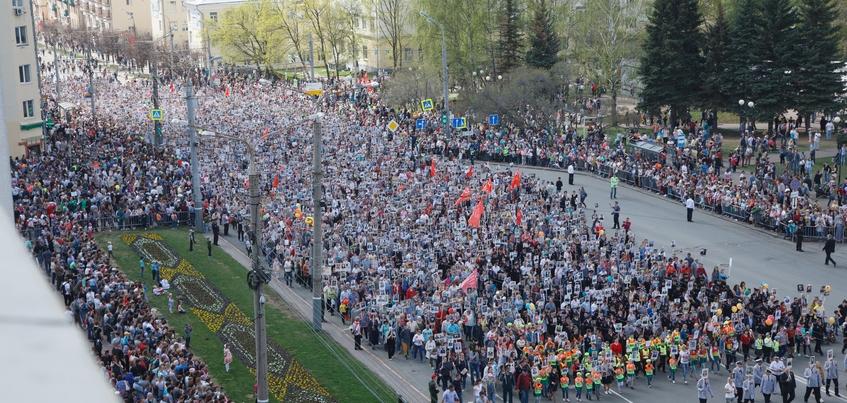 135 тысяч человек приняли участие в праздновании Дня Победы в Ижевске