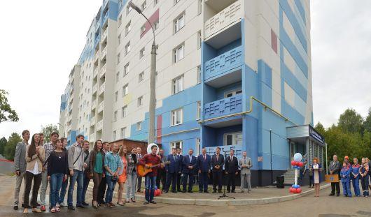 Дом для бюджетников сдали на улице Зои Космодемьянской в Ижевске