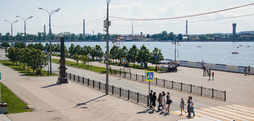 Пешеходную зону на набережной Ижевска откроют 25 июня