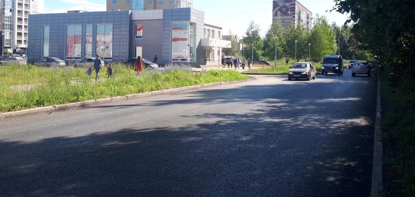 Ремонт на улице Надежды Курченко в Ижевске завершился