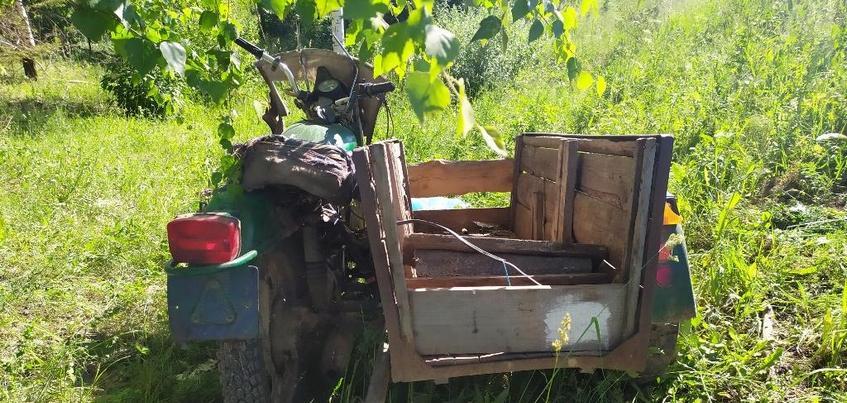 Пенсионер на мотоцикле разбился в Удмуртии