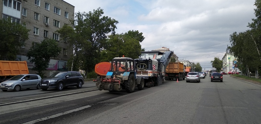 Ремонт участка улицы Удмуртской начался в Ижевске