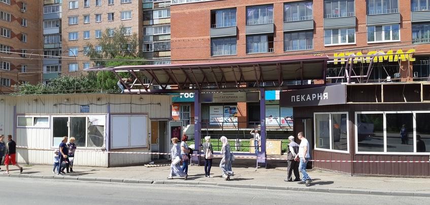 Два ларька снесут на остановке в Ижевске