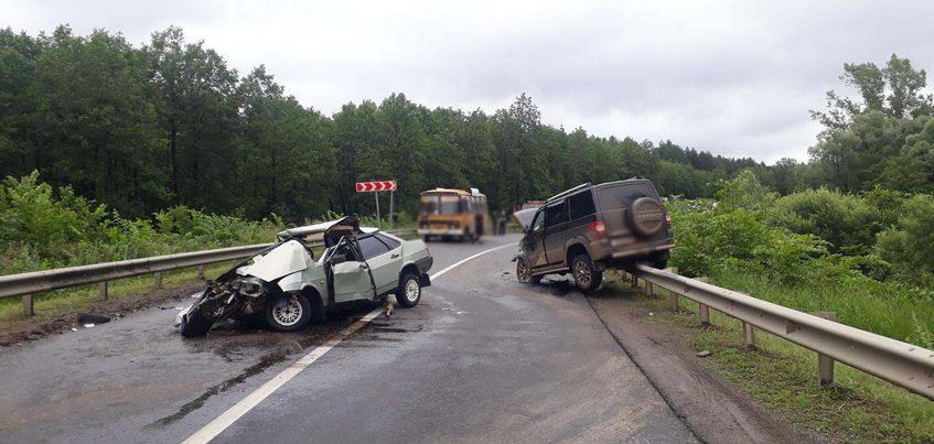 Два водителя пострадали в аварии на дороге Воткинск – Чайковский