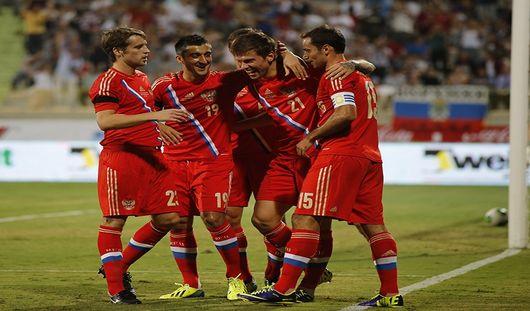 Сборная России забила четыре безответных мяча в ворота Азербайджана