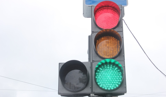 В Ижевске на перекрестке улиц Чехова и 10 лет Октября не работает светофор