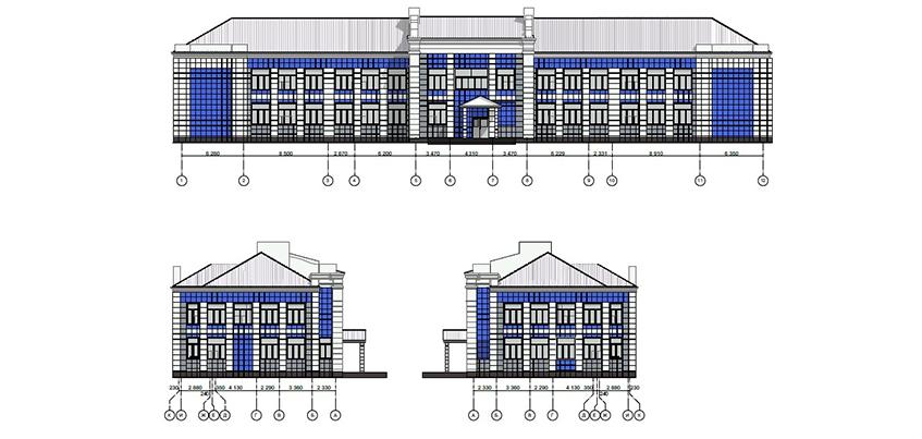 Глава Ижевска показал эскиз нового фасада школы юных летчиков
