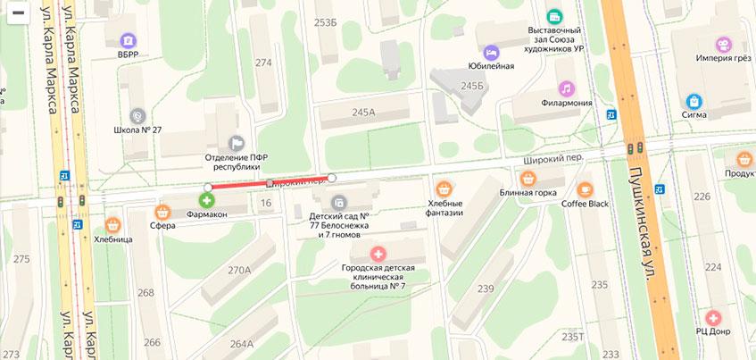 Переулок Широкий в Ижевске закроют из-за ремонта теплосетей
