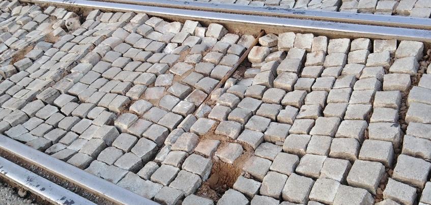 Заменят ли брусчатку на трамвайных путях в Ижевске?