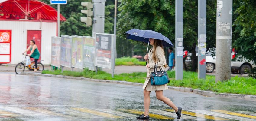 Погода в Ижевске: тепло до +25° и дожди