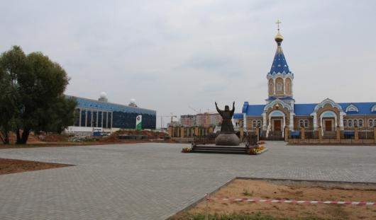 В Ижевске завершают строительство сквера у храма Серафима Саровского