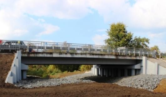 В Удмуртии в Малопургинском районе появилась новая дорога с мостом