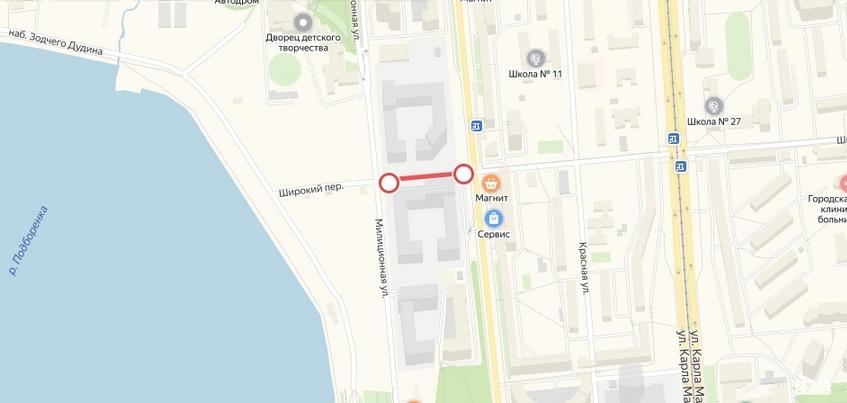 Движение на участке переулка Широкого в Ижевске закрыли на 2 года