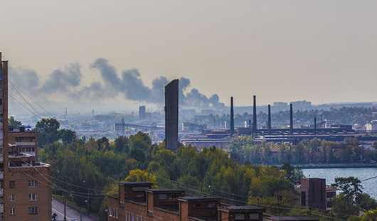 В Ижевске на улице Гагарина произошел пожар