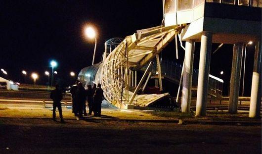 На трассе Ижевск - Казань обрушился пешеходный мост