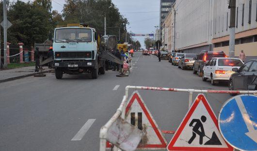 В Ижевске 27 сентября перекроют улицу М. Горького на участке от Бородина до Советской