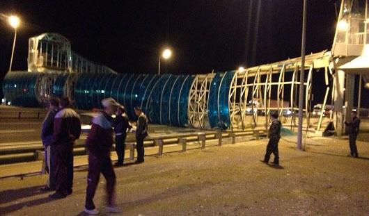 Пешеходный мост в Удмуртии может обрушиться только по вине водителя грузовика