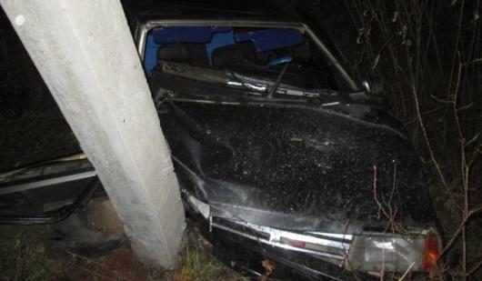 В Удмуртии погиб водитель, врезавшись в столб