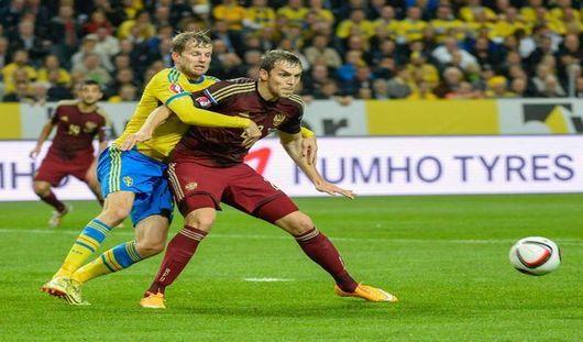 Сборная России по футболу не смогла выиграть у шведов в отборочном мачте на Евро-2016