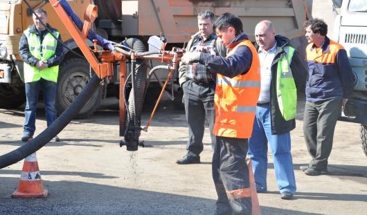 В Ижевске на улице Совхозной ремонтируют дорогу
