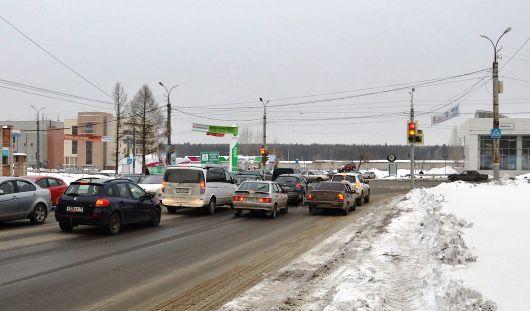 В Ижевске открыли для движения Пушкинскую от Холмогорова до улицы Сакко и Ванцетти