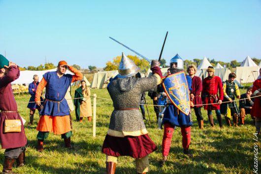 Ижевчане переодеваются в древних воинов и сражаются в Куликовской битве