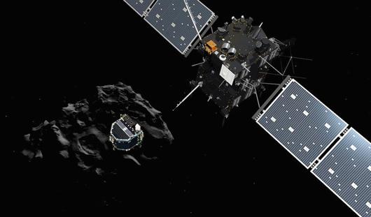 Спускаемый модуль впервые в истории совершил посадку на комету