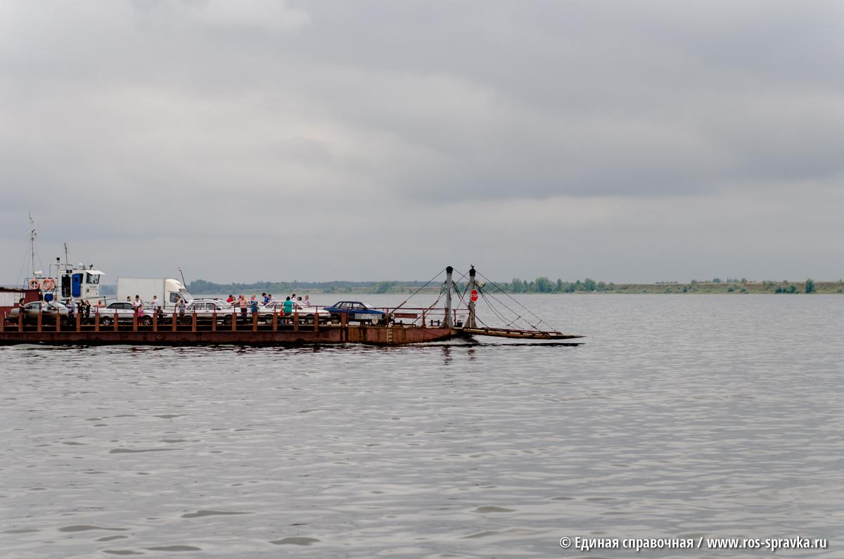 С 17 ноября в Удмуртии закрыты паромные переправы на реке Каме