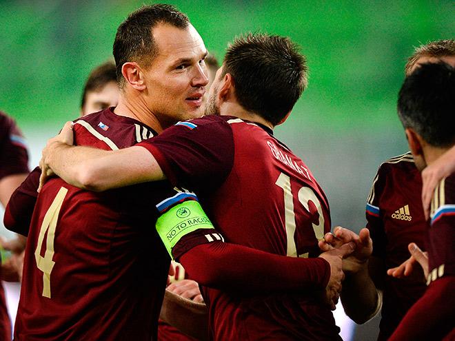 Российские футболисты выиграли в матче с Венгрией
