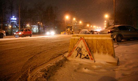 В Ижевске улицу Удмуртскую перекрыли из-за перелома трубы