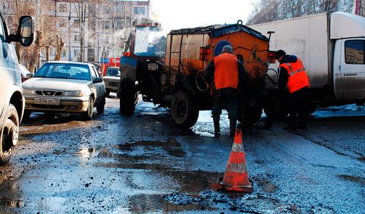 Более 40 километров дорог отремонтировали в Ижевске в 2014 году