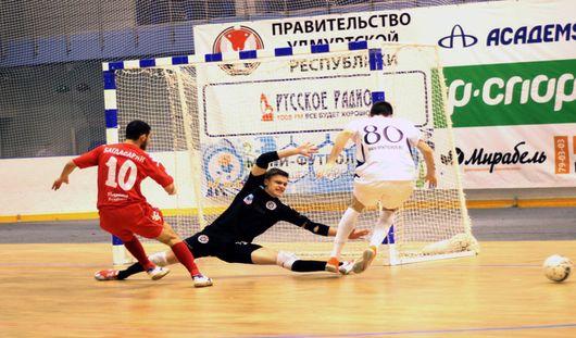Мини-футболисты Удмуртии проиграли повторный матч «Дине» с разгромным счетом 2:14
