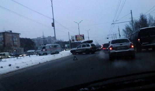 В Ижевске столкнулись «Скорая» и «Хендай»
