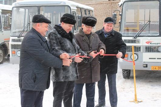 40 новых работающих на газе автобусов будут ездить по улицам Можги