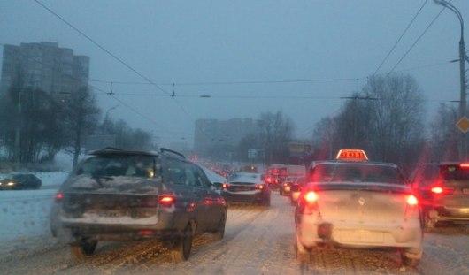 Снегопад в Ижевске продлится до полуночи