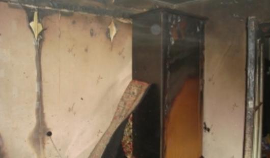 Мусор сгорел в ижевской квартире